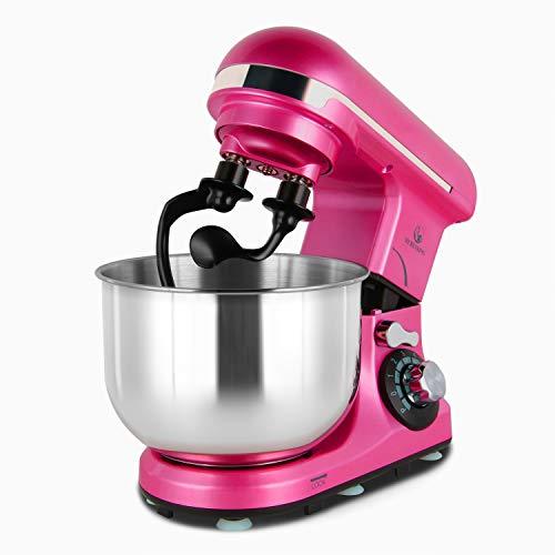Stand Mixer Double Shaft, MURENKING 4-Qt 300W Tilt-Head 6 Speed Electric Food Mixer Kitchen MK18C, Stainless Steel Bowl…