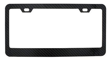 Plain Black Wide-Bottom Metal License Plate Frame 2 Holes