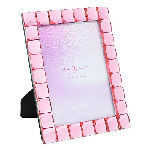 - Isaac Jacobs Decorative Sparkling Light Pink Jewel Picture Frame, Photo Display & Home Décor (5x7, Light Pink)