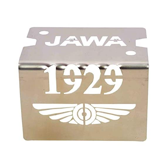 R.J.VON Bike Cylinder Master Stainless Steel Disk Oil Cover for Jawa and Jawa Forty Two