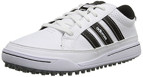 adidas JR Adicross IV Golf Shoe (Little Kid/Big Kid), White/Black, 3.5 M US Big Kid