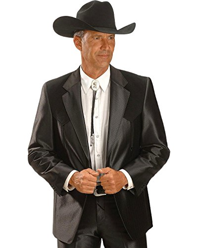 (Circle S Men's Boise Western Suit Coat Big and Tall Black 56 LNG )