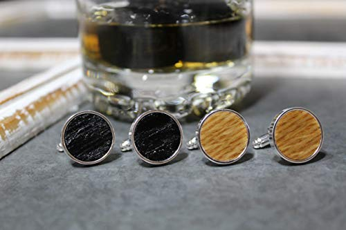 Jack Daniel's Whiskey Barrel Cufflinks - Father's Day Gift, 5th anniversary, groomsmen gift, wedding cuff links, groom cufflinks