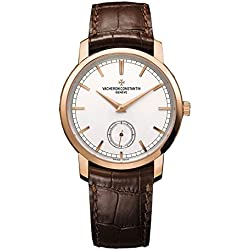 Vacheron Constantin Patrimony Traditionelle Manual Wind Silver Dial Brown Leather Mens Watch 82172000R-9382