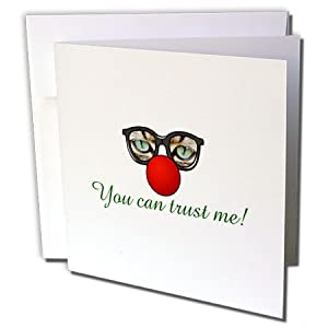 3dRose Sven Herkenrath Quotes - You Can Trust Me Funny Cat Sunglasses Animal Quotes - 1 Greeting Card with envelope (gc_254233_5)