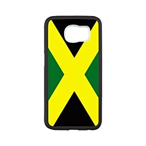 Durable Platic Case Cover for Samsung Galaxy S6-Jamaican flag Pattern Printed Cell Phones Shell