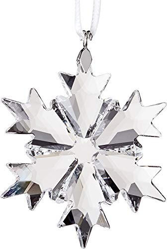 Crystal Holiday Ornament - Swarovski Little Snowflake Ornament, Clear Crystal
