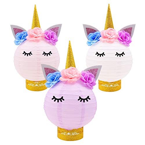 Unicorn Party Decorations-Unicorn Table Centerpieces Paper Lanterns DIY Ideas for Unicorn Baby Shower Birthday Party Supplies (Party For Centerpieces Sale)