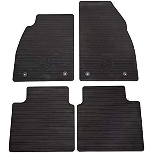 Buy General Motors GM Accessories 32026238 Front and Rear All-Weather Floor Mats in Black with Deep Rib and Tri-Shield Logo