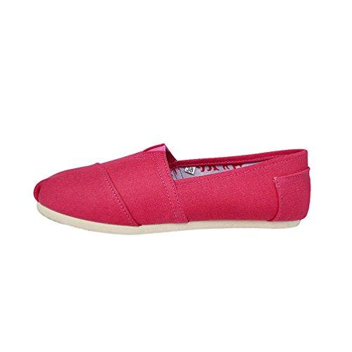Scarpe rosso Moda Flats Unisex Casuale Uomo Unita Loafers Basse Donna Slip Dooxii Espadrillas Tinta Scarpe on wxUXZYx