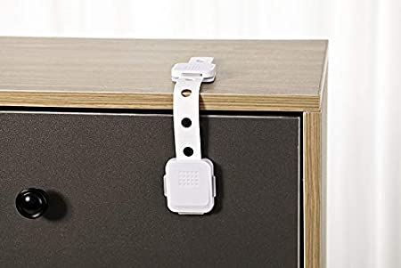 WAFJAMF Dual Action All Purpose Latch Safety Locks 2 Count