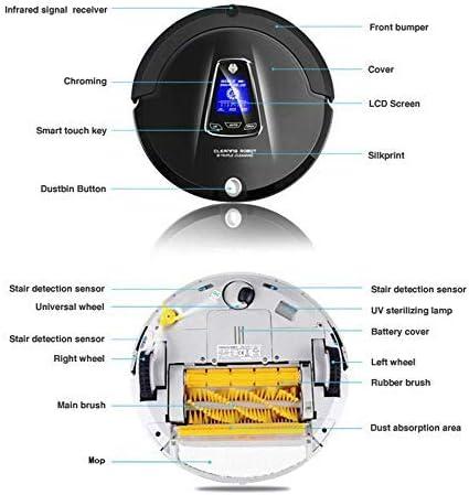 CHUTD Robot de Balayage d\'aspirateur Intelligent, Machine de Chargement et de Nettoyage entièrement Automatique, multifonctionnelle, Forte Aspiration/stérilisation UV