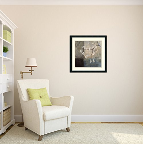 Framed Art Print, 'Spa Blossom I' by Laurie Maitland: Outer Size 25 x 25'' by Amanti Art (Image #7)
