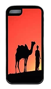 for ipod Touch 4 Case Desert Silhouette Camels TPU Custom for ipod Touch 4 Case Cover Black