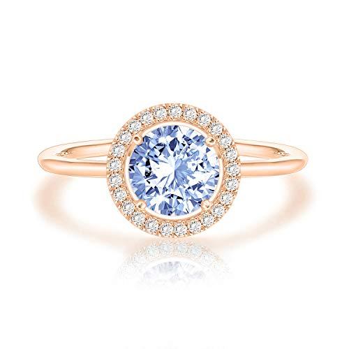 December Birthstone Ring - Swarovski Crystal 14K Rose Gold Plated Birthstone Rings | Rose Gold Rings for Women | Zircon Ring