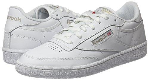 Reebok 85 Cass Club blanc Femmes Gris Blanc D'entranement Chaussures Clair Pour C qI6Iawr