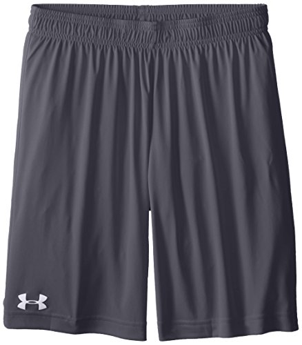 Under Armour Boy's Basic Microshort Shorts, Youth/X-Small, Graphite/White