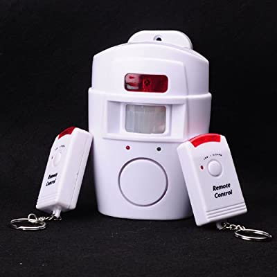Home Remote Control Security Motion Sensor Alarm - White