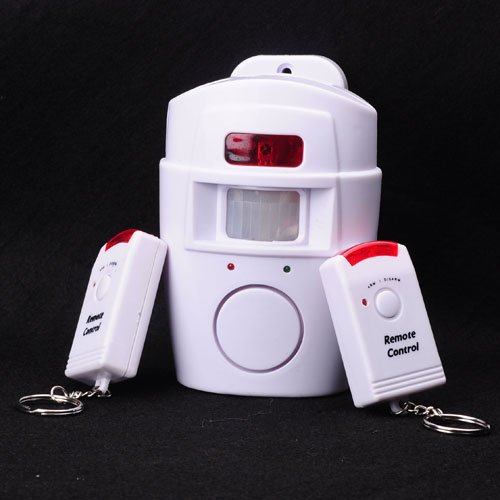 Home Remote Control Security Motion Sensor Alarm White VarichLotus 37983