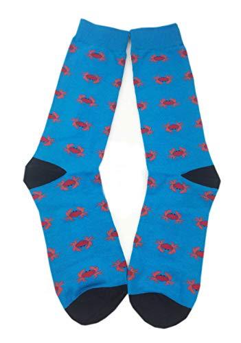 (Aesthetinc Men Hot Pepper Hot Source Lobster Taco Pretzel Novelty Crew Socks (Red Crab))