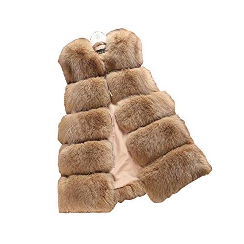砂歯痛判決レディース冬偽ものの毛皮のベスト、毛皮ベスト暖かい冬のエレガントなジャケット コート フェイクファー ベスト毛皮ジャケット トップスします。