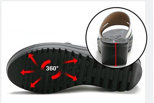 sandales B A Couleur des pantoufles plates croûte pantoufles avec de pantoufles femelle sandales mode Sandales et extérieure de nbsp; Sandales été chaussons épaisse coréennes pente mode sauvages xw0FqH84wn