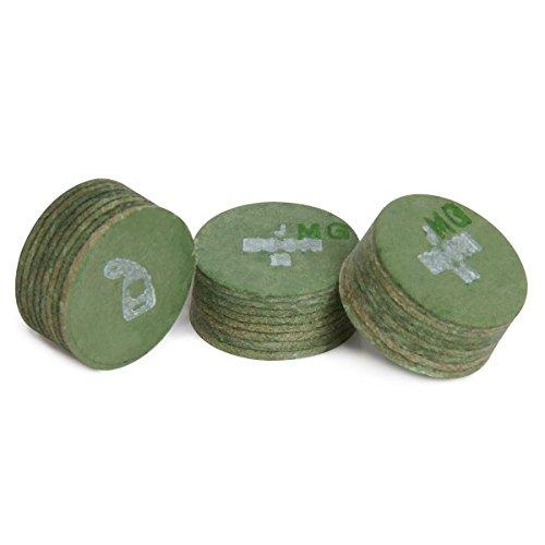 (Moori Jewel Pool Billiard CUE TIP - 1 pc - Green - 14 mm)