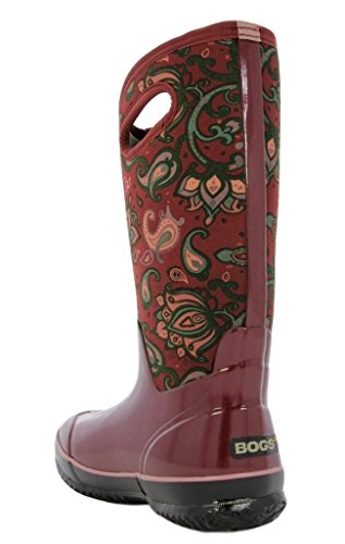 Bogs Ladies Classic Paisley Tall Burgandy Insulated Warm Wellington Boot 72031-UK 9 (EU 43)