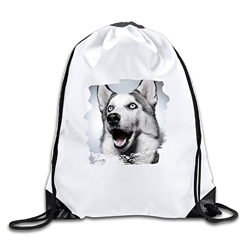 BOoottty Siberian Husky Balto Dog Face Surprised Drawstring Backpack Bag (Pet Naturals Extra Strength compare prices)
