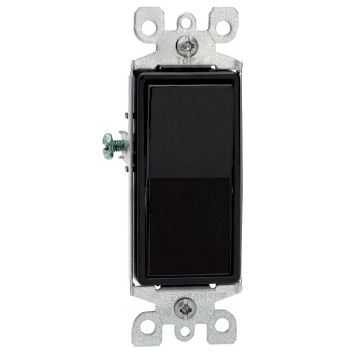- Leviton 5601-2E 15 Amp, 120/277 Volt, Decora Rocker Single-Pole AC Quiet Switch, Residential Grade, Grounding, Black