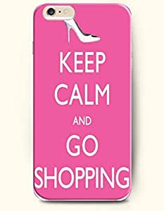 iPhone Case,OOFIT iPhone 6 (4.7) Hard Case **NEW** Case with the Design of keep calm and go shopping - Case for Apple iPhone iPhone 6 (4.7) (2014) Verizon, AT&T Sprint, T-mobile