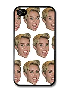 Miley Cyrus Head Pattern case for iPhone 4 4S
