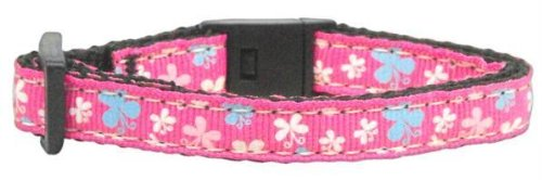 Butterfly Nylon Ribbon Collar Pink Cat Safety (24 Pack) [Misc.] by None