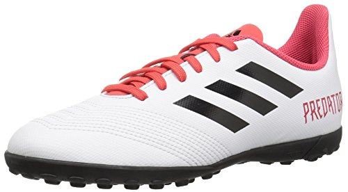 adidas Performance Unisex-Kids Predator Tango 18.4 TF J, White/Core Black/Real Coral, 1 M US Big Kid