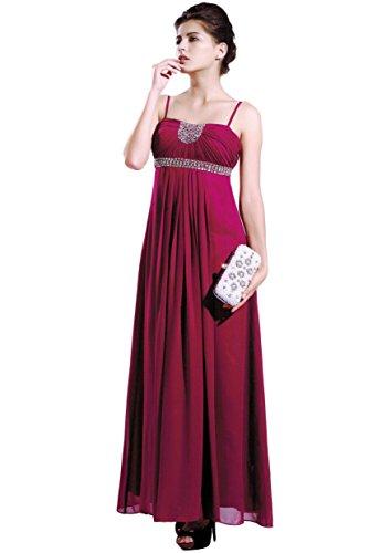 Ballkleid 42 Chiffon Gr Abendkleid Bodenlanges 34 Farben vers Mailin Creme Trägerkleid qzxEdw7g
