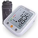 SCIAN Digital Blood Pressure Monitor Upper Arm - Extra Large LCD Screen, 2x90 Memory Blood Pressure Machine, Cuff | Accurate Automatic Measure Digital BP Monitor Device for Home & Clinical Use