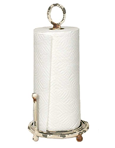 Rustic Paper Towel Holder - Provincial Paper Towel Holder in Antique White