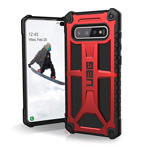 UAG Samsung Galaxy S10 Plus [6.4-inch Screen] Monarch [Crimson] Military Drop Tested Phone Case