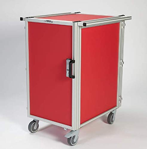 Transport Cart with Waterloo Cassettes (Red)