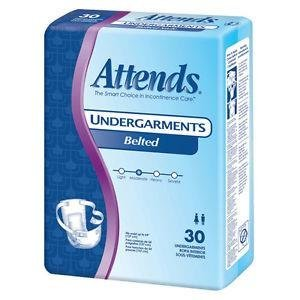 Attends Undergarments 6 Belted Style Qty - Belted Briefs