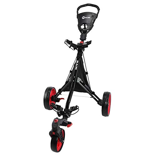 RAM Golf Push Pull 3-Wheel Golf Cart with 360 Rotating Front Wheel