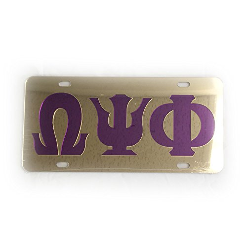 Omega Psi Phi License Plate - 2