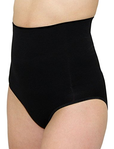 Leading Lady Women's Shapewear Brief with Tummy Control, Black, Large