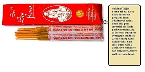 4 X 25G Sri Sai Flora Incense Sticks Box Pure Natural India For Religious Prayer Diwali Navratri Janamashtami Aromatheraphy pooja (Mystic Temple Incense)