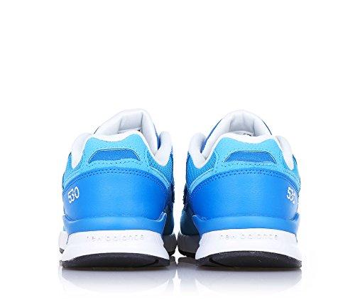 coutures latéral à bleu BALANCE Basket et NEW logo à lacets visibles cuir en suède l'arrière garçon et microfibre garçons clair w7gaEqExC