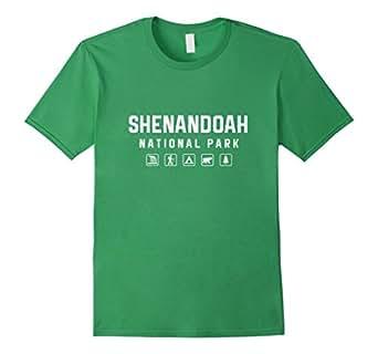 Mens Shenandoah National Park Icon T-shirt 3XL Grass