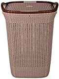 Nayasa Rope Laundry Basket - Multipurpose Basket - Plastic Laundry Basket - Small - Light Brown