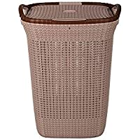 Nayasa Rope Multipurpose Plastic Laundry Basket (Small) Blue