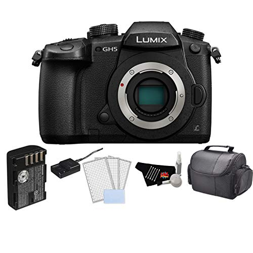 - Panasonic Lumix DC-GH5 Mirrorless Micro Four Thirds Digital Camera (Body Only) Bundle with LCD Screen Protectors and More