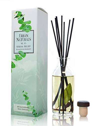 (Urban Naturals Eucalyptus Spearmint Stress Relief Aromatherapy Diffuser Gift Set | Fragrance Your Space | Fresh Scented Room Freshener + Home Decor | Home Gift Idea. Vegan.)